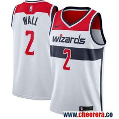 91b6f520932 Men's Nike Washington Wizards #2 John Wall White Stitched NBA Swingman  Jersey