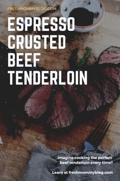 We're sharing the best way to cook beef tenderloin for a tender, melt in your mouth bite every time with our steak rub of espresso, brown sugar and spices!Chateaubriand is the most decadent, tender beef … Best Steak Rub, Steak Rubs, Perfect Beef Tenderloin, Filet Mignon Roast, Romantic Writers, Roast Chicken And Gravy, Omaha Steaks, Tender Steak, Beef
