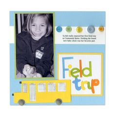 field trip scrapbook ideas