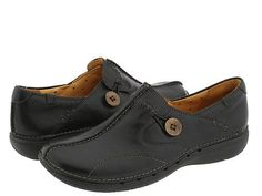 Clarks Un.loop Black Leather - Zappos.com Free Shipping BOTH Ways