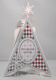 Example of teepee card for christmas - great template on same site (uses 1 sheet of paper only instead of 3)