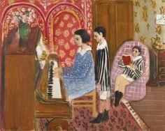 'LA LEÇON DE PIANO' 1923 Henri Matisse. Oil on canvas: 25⅝ x 31⅞ in. Sotheby's estimate £12,000,000-18,000,000.