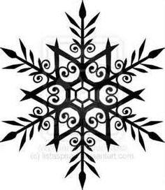 Snowflake tattoo.