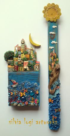 Pin by Amy Bender on Home Driftwood Projects, Driftwood Art, Creation Deco, 3d Wall Art, Stone Crafts, Paperclay, Wooden Art, Stone Art, Wood Stone