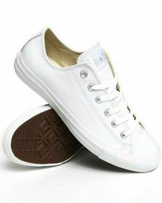 the best attitude f99ae 4abcb White Leather Converse, Clean White Leather Shoes, Plain White Sneakers,  White Converse Style