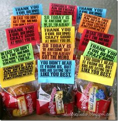 Teacher Appreciation Thank You Tags Toppers Instant Digital