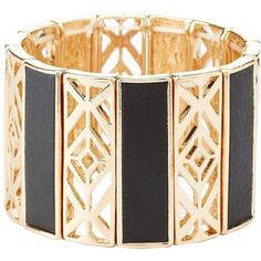 Charlotte Russe Gold Faux Leather & Metal Bracelet by Charlotte Russe... ($6) ❤ liked on Polyvore featuring jewelry, bracelets, gold, bracelet jewelry, yellow gold bangle, metal bracelet, gold jewellery and vegan bracelet