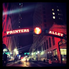 Check out the bands and karaoke on Printer's Alley