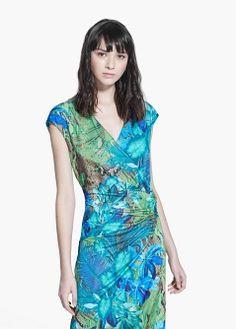Lange jurk met tropische print