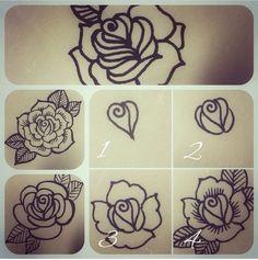 Learn how to henna. Step by step henna Tattoo Henna, Henna Tattoo Designs, Henna Mehndi, Henna Art, Hand Henna, Henna Tutorial, Unique Mehndi Designs, Beautiful Henna Designs, Rose Mehndi Designs