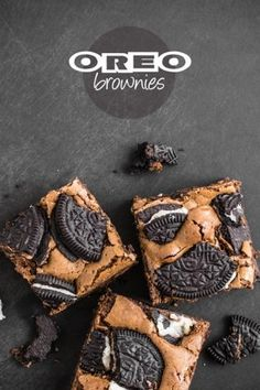 Fudgy Oreo Brownies from Sugar and Snapshots
