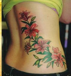 Sweet Orchid Tattoos but the placement could be better!