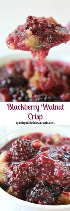 Blackberry Walnut Crisp