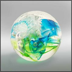 Crystal Keepsake sphere with cremation ash from Soul Bursts. IT is a wonderful way to remember a loved one.