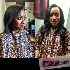 Traditional install before and after done by hairotic beauty