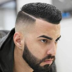 Deep Parted High and Tight Haircut - Crew Cut Haircut