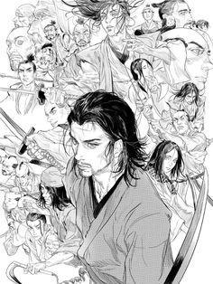 vagabond manga art ~ Manga + manga art black and white Vagabond Manga, Anime Rock, Character Drawing, Character Design, Manga Art, Anime Art, Art Sketches, Art Drawings, Male Manga