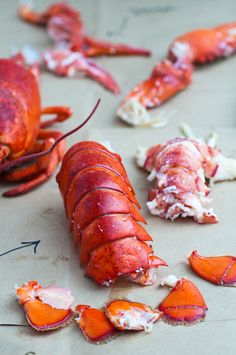 "Debate...is this comfort food or food porn??? ""How to cook and eat a whole lobster"""