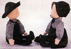 Amish dolls have no faces.