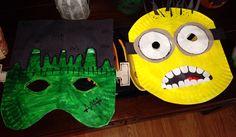 Paper plate masks | Kiddie Crafting Korner | Pinterest Paper Plate Masks, Paper Plates, Easy Art Projects, Projects For Kids, School Projects, Paper Plate Crafts For Kids, Paper Crafts, Halloween Masks, Halloween Crafts