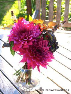 Dahlia,Pink,Flower,Autumn,Bouquet,Lesson,Flower arrangement class,Miyabi Flowers & Decor