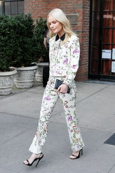 Petal Power! Kate Bosworth's Floral Suit Is Anything but Stuffy