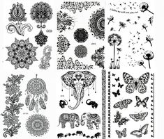 Elephant Temporary Tattoos for Maverick Women Teens Girls Party Favors Pack of 16 Feathers