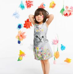Anne Kurris has a delightfully playful kids fashion collections for spring 2015 with a wonderland of whimsical prints, neon, metallic colour and retro style