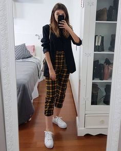 137 black and white outfits make you fashionable - Business Outfits for Work Grunge Outfits, Casual Work Outfits, Business Casual Outfits, Mode Outfits, Retro Outfits, Trendy Outfits, Fall Outfits, Fashion Outfits, Fashionable Outfits