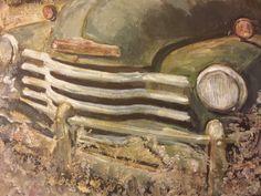 Abandoned car Acrylic on canvas Mixed media  Inez Ribeiro