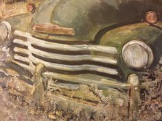 Abandoned car Acrylic on canvas Mixed media  Inez Ribeiro