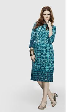 Shop Sea Blue Georgette Readymade Kurti 66355 online at best price from vast collection of designer kurti at Indianclothstore.com.