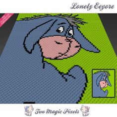 Lonely Eeyore C2C Crochet Graph | Craftsy