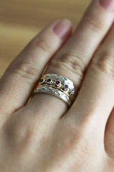 The striking design and rich, diverse colors bring beauty and blessings to our amethyst and sterling ring. Sure to solicit rave reviews from everyone who sees it.