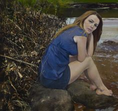 'By her lily white hand' (Banks of the Ohio Oil on canvas 36×38″ 2012) by Julyan Davis
