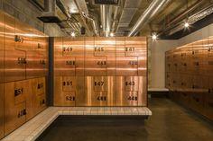 1Rebel Boutique Gym in London by Studio C102 - Copper Lockers <3
