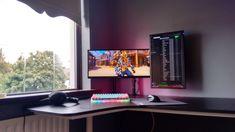 Výsledek obrázku pro ultrawide and vertical monitor setup