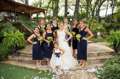 Navy, lime green, creams, and silver.  Wedding colors.