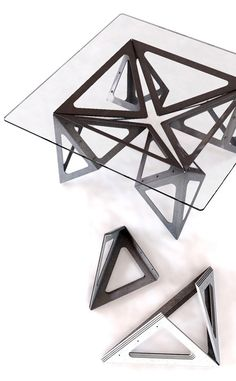 contemporary design dining table origami - Google Search