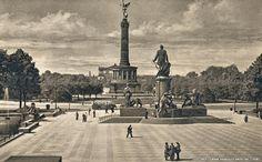 Bismarck Denkmal und Siegessäule..1936