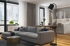 The Architectural Firm Geometrium Interior Studio Designed a Modern Apartment in Moscow, Russia