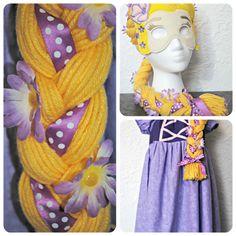 DIY Rapunzel Wig from Chameleon Girls via @733blog