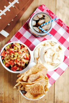 This sweet version of chips and dip is delicious and so easy to make. It's one of our favorites for game day snacking or for entertaining any time! #NachoFritoEntry