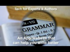 Website - App That Helps Your Write Better.  In today's Tech Tip Chet introduces a website that can help check your grammar and spelling more completely,  You can upload documents, and even use a web browser extension to write better blog posts, social media posts, and more.