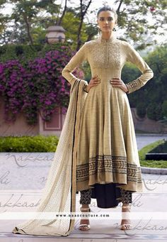 Khaadi Work And Heavy Embroidery Work Complete Wedding Style Anarkali Salwar Suit
