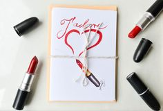 J'adore Set of 8 Fashion Cards Makeup by DorinusIllustrations  #jadore #stationery #lipstick