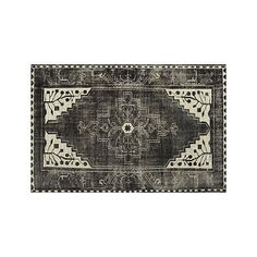 Anice Black Rug  | Crate and Barrel