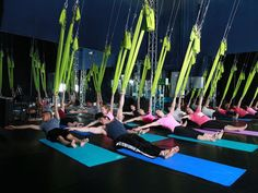 Founded by Cirque du Soleil performers, Shine Alternative Fitness studio is known for its unusual aerial silks and anti-gravity yoga classes...