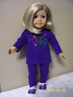 Purple knit pants and top with rhinestone embellishment.  (Simplicity 4786) 2014 SOLD