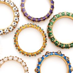 Jean Schlumberger revived the lost art of paillonné enamel and created the bracelets that have inspired many imitations. But none are as precious and distinct as the originals. #TiffanyPinterest